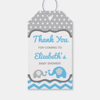 Étiquette de Merci de baby shower d'éléphant,