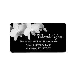 Étiquette de Merci d'orchidée