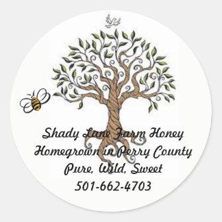 Étiquette de miel d'arbre d'abeille