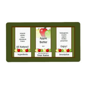 Étiquette de mise en boîte de pot de beurre