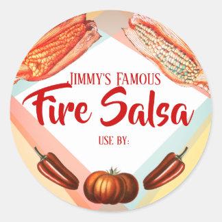 Étiquette de mise en boîte de Salsa mexicain de
