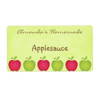 Étiquette de mise en boîte orienté d'Apple de poin