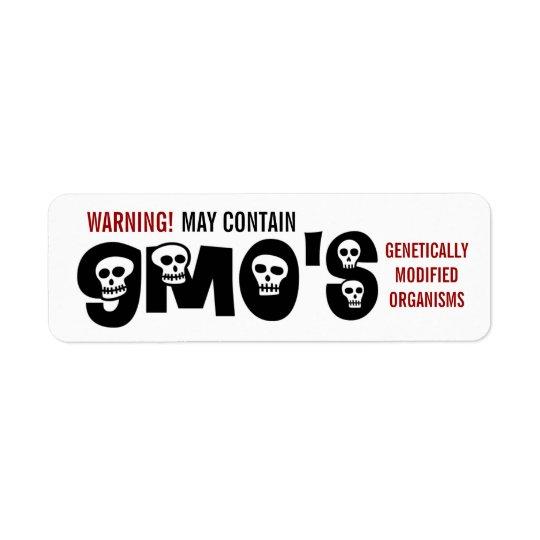 Étiquette de mise en garde de GMO