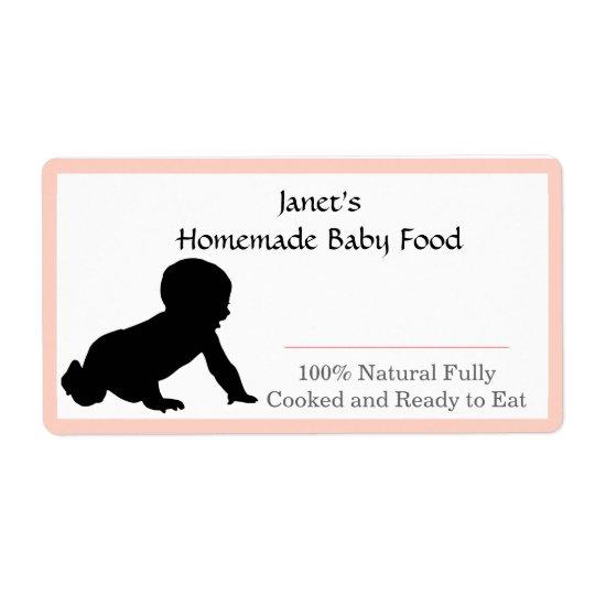 Étiquette de pot d'aliment pour bébé