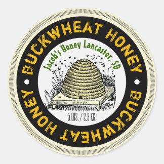 Étiquette de pot de miel customisé par miel de sticker rond