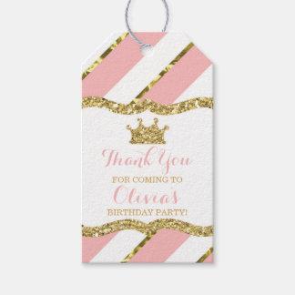 Étiquette de princesse Merci, rose, scintillement