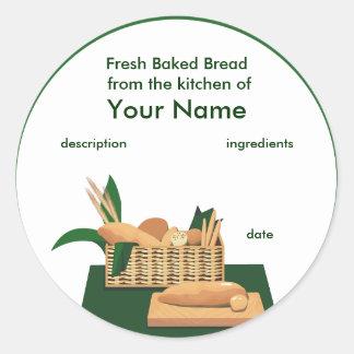 Étiquette de produit de panier de pain
