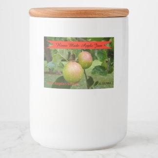 Étiquette de récipient de confiture d'Apple fait