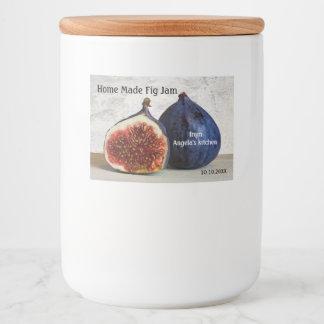 Étiquette de récipient fait par maison de