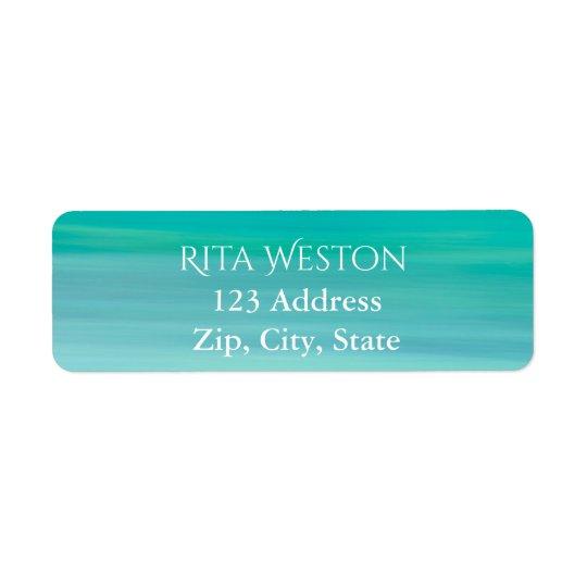 Étiquette de retour d'adresse d'eau de mer d'océan