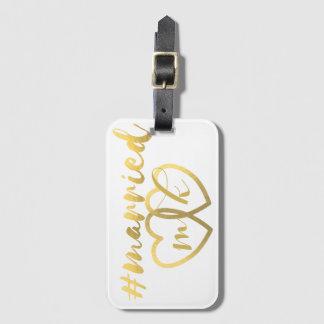 Étiquette de sac de lune de miel mariée par étiquette à bagage