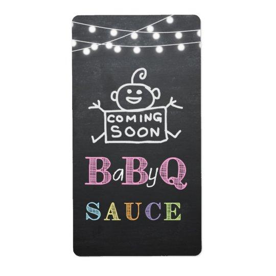 étiquette de sauce à babyq/autocollant de babyq