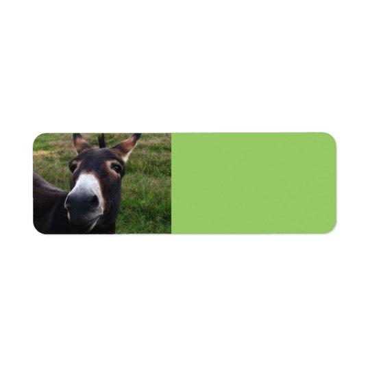 Étiquette de sourire d'Avery d'âne