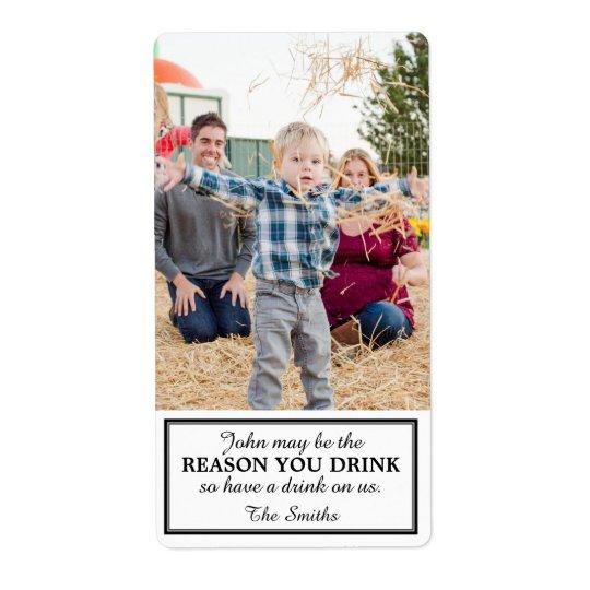 Étiquette de vin de cadeau dû à l'enfant