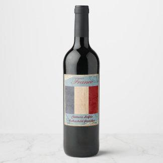 Étiquette de vin de la France