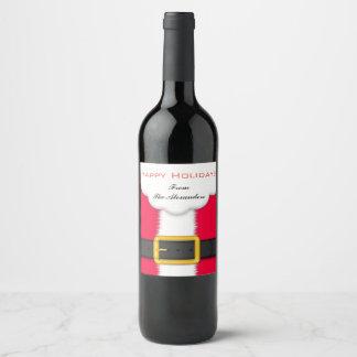 Étiquette de vin de Père Noël