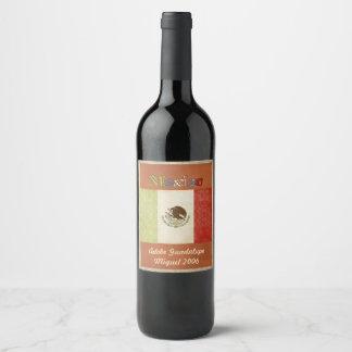 Étiquette de vin du Mexique