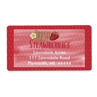 Étiquette d'expédition de fraises