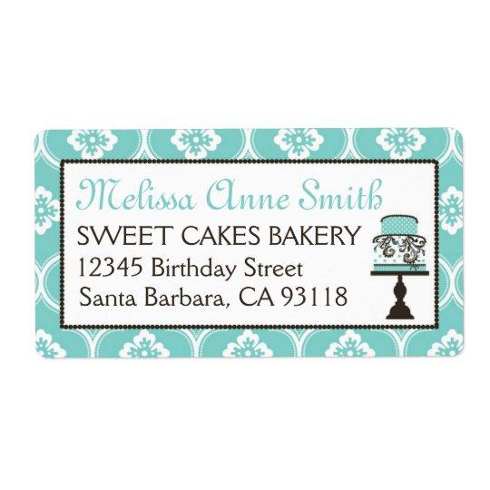 Étiquette d'expédition doux d'affaires de gâteau T