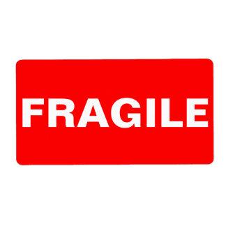 Étiquette d'expédition fragile rouge