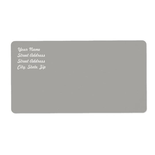 Étiquette d'expédition gris en pastel