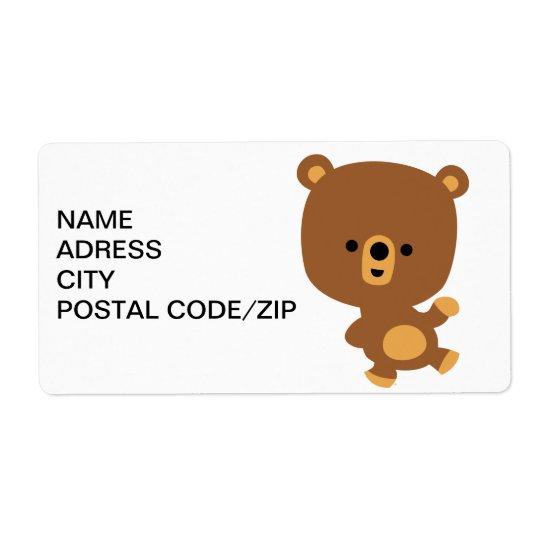 """Étiquette d'expédition mignon d'Avery d'ours de """"b"""