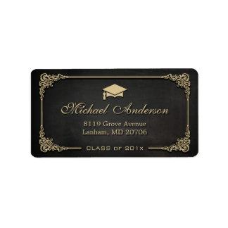 Étiquette Diplômé élégant de diplômé de casquette