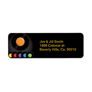 Étiquette Disques de plaque tournante dans des couleurs
