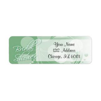 Étiquette Douche nuptiale dans un vert et un blanc en bon