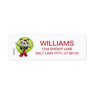 Étiquette Dr. Seuss | la joie de Noël de Grinch | Whoville