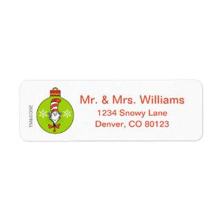 Étiquette Dr. Seuss | le classique de Grinch | le chat dans
