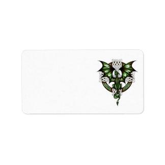 Étiquette Dragon celtique