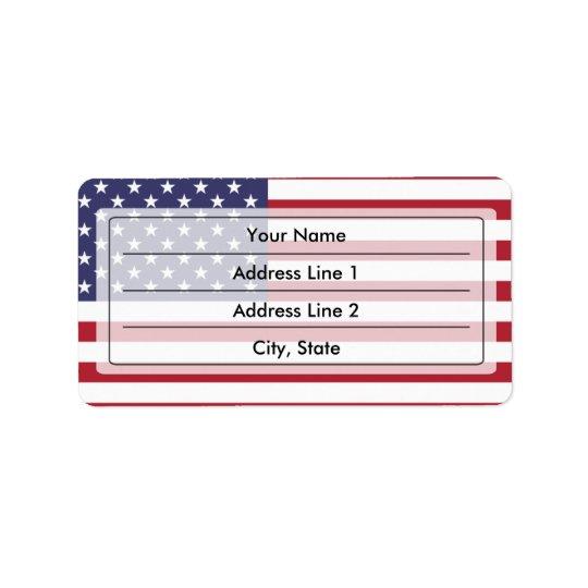 Étiquette Drapeau américain