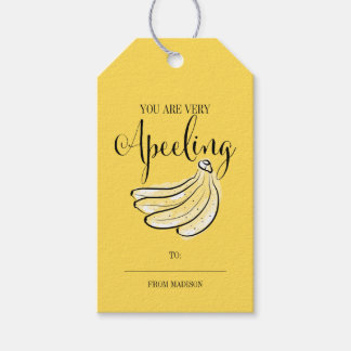 Étiquette drôle de cadeau de Valentine de banane