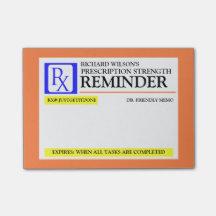 Étiquette drôle de prescription note autocollante