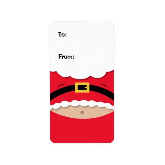 Étiquette drôle d'étiquette de cadeau de Noël