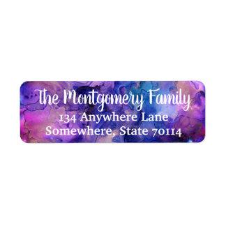 Étiquette Éclaboussure de Bohème colorée et nom de famille