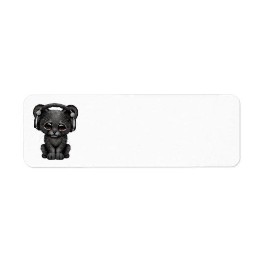 Étiquette Écouteurs de port noirs mignons de CUB DJ de