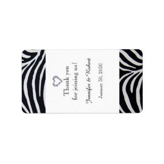 Étiquette élégant de baume à lèvres de mariage de