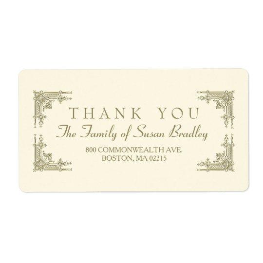 Étiquette élégant de Merci de famille de style