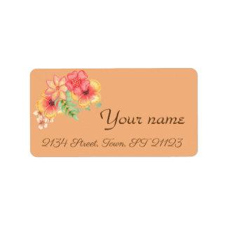 Étiquette Élégant, moderne, floral, aquarelle