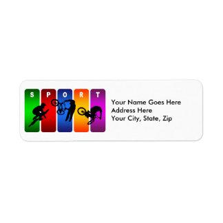 Étiquette Emblème multicolore de BMX