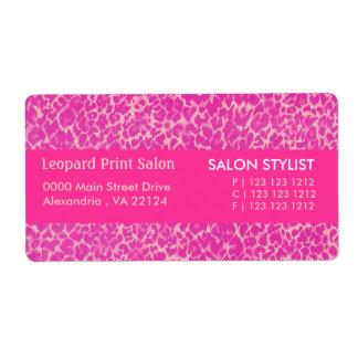 Étiquette Empreinte de léopard de roses indien