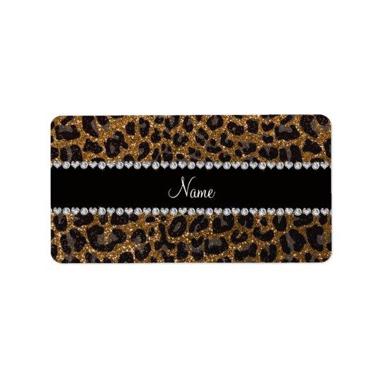 Étiquette Empreinte de léopard nommé fait sur commande de