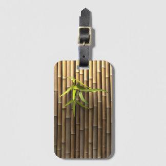 Étiquette en bambou de bagage de mur étiquette à bagage