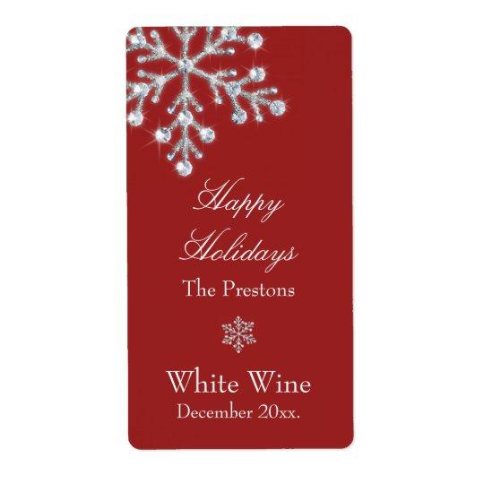 Étiquette en cristal de vin de flocon de neige (ro
