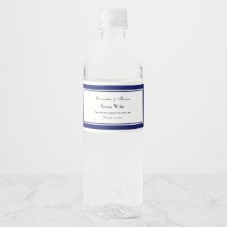 Étiquette encadré élégant de la bouteille d'eau #2