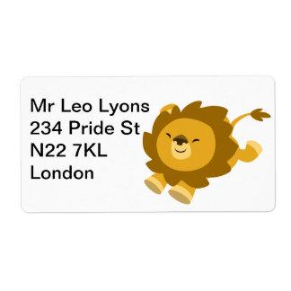 Étiquette enthousiaste mignon d'Avery de lion de b Étiquette D'expédition