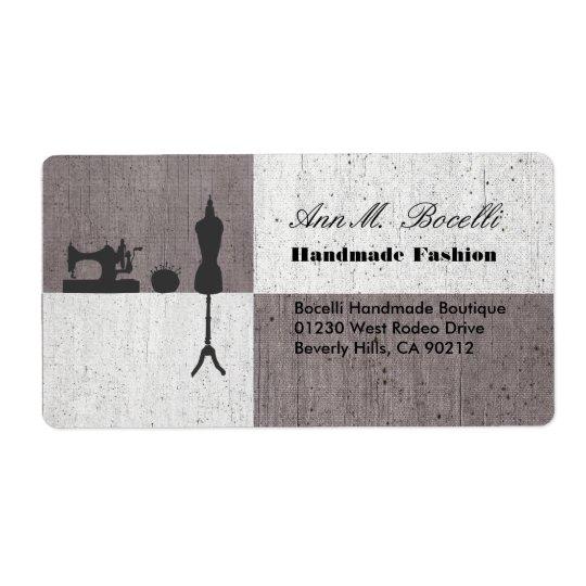 Étiquette Entreprise artisanale de couture faite main