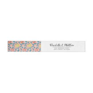 Étiquette enveloppant de marine rose de corail